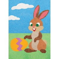 Peel 'N Stick Sand Art Board #28 - Bunny and the Egg