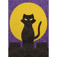 Peel 'N Stick Sand Art Board #22 - The Cat and the Moon