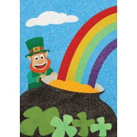 Peel 'N Stick Sand Art Board #25 - The Rainbow and the Leprechaun