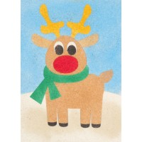 Peel 'N Stick Sand Art Board #27 - Reindeer