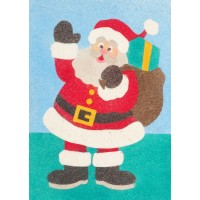 Peel 'N Stick Sand Art Board #26 - Santa