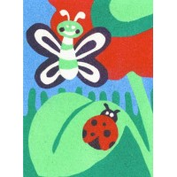 Peel 'N Stick Sand Art Board #3 - Butterfly & Ladybug