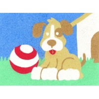 Peel 'N Stick Sand Art Board #4 - Fetch Puppy