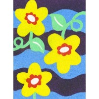Peel 'N Stick Sand Art Board #6 - Flowers In Bloom
