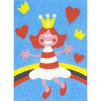 Peel 'N Stick Sand Art Board #8 - Princess Rainbow
