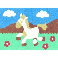 Peel 'N Stick Sand Art Board #10 - Galloping Horse