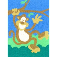 Peel 'N Stick Sand Art Board #12 - Waving Monkey