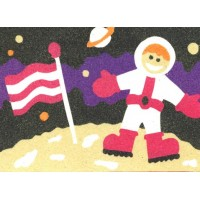 Peel 'N Stick Sand Art Board #14 - Walking On The Moon