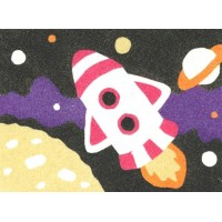 Peel 'N Stick Sand Art Board #15 - Rocket Over The Moon