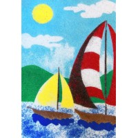 Peel 'N Stick Sand Art Board #16 - Sailing In The Wind