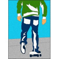 Peel 'N Stick Sand Art Board #17 - Skater Dude