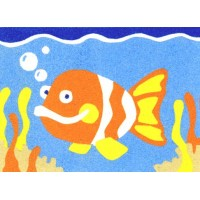 Peel 'N Stick Sand Art Board #19 - Goldfish
